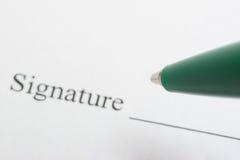 υπογραφή Στοκ εικόνα με δικαίωμα ελεύθερης χρήσης