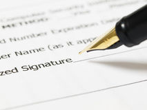 υπογραφή Στοκ Εικόνες