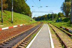 Υποδομή κοντά στο σιδηροδρομικό σταθμό στοκ εικόνες