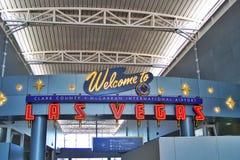 Υποδοχή αερολιμένων McCarran σε Vegas στοκ εικόνες