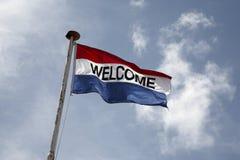 υποδοχή σημαιών Στοκ φωτογραφία με δικαίωμα ελεύθερης χρήσης