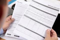 υποθήκη αίτησης υποψηφιό&tau Στοκ εικόνα με δικαίωμα ελεύθερης χρήσης