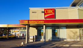 Υποκατάστημα τράπεζας CIBC στοκ φωτογραφία με δικαίωμα ελεύθερης χρήσης