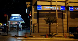 Υποκατάστημα τράπεζας Geniki απόθεμα βίντεο