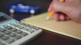Υπολογίζοντας το κόστος ένα αυτοκίνητο απόθεμα βίντεο