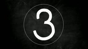Υπολογισμός αντίστροφης μέτρησης από τον αριθμό πέντε στον αριθμό μηδέν διανυσματική απεικόνιση