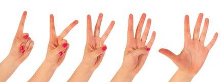 Υπολογισμός γυναικών με τα δάχτυλα Στοκ Φωτογραφίες