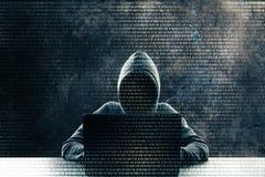 Υπολογισμός και malware έννοια στοκ φωτογραφίες