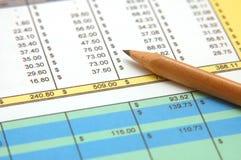 υπολογισμός με λογιστικό φύλλο (spreadsheet) Στοκ Εικόνες