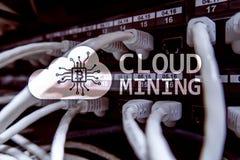 Υπολογισμός, στοιχεία ή cryptocurrency & x28 σύννεφων Bitcoin, Ethereum& x29  να εξαγάγει στο κέντρο δεδομένων Υπόβαθρο δωματίων  στοκ φωτογραφία με δικαίωμα ελεύθερης χρήσης