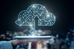 Υπολογισμός σύννεφων και έννοια κεντρικών υπολογιστών στοκ φωτογραφίες με δικαίωμα ελεύθερης χρήσης