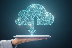 Υπολογισμός σύννεφων και έννοια κεντρικών υπολογιστών στοκ εικόνα με δικαίωμα ελεύθερης χρήσης