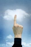 υπολογισμός σύννεφων κουμπιών Στοκ Εικόνες