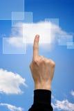 υπολογισμός σύννεφων κουμπιών Στοκ Εικόνα