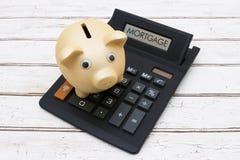 Υπολογισμός των πληρωμών υποθηκών σας στοκ εικόνες