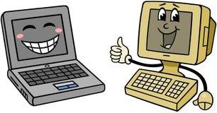 υπολογιστές ευτυχείς Στοκ Εικόνες