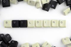 Υπολογιστές και τεχνολογίες υπολογιστών στις βιομηχανίες και τους τομείς της ανθρώπινης δραστηριότητας - έννοια E σε ένα άσπρο υπ στοκ εικόνες με δικαίωμα ελεύθερης χρήσης