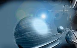 υπολογιστής έργου τέχνη&sig Στοκ Εικόνα