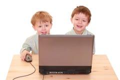 υπολογιστής αγοριών Στοκ Εικόνα