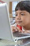 υπολογιστής αγοριών Στοκ φωτογραφία με δικαίωμα ελεύθερης χρήσης