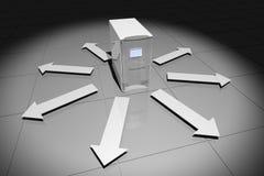 υπολογιστής βελών γκρίζ& Στοκ φωτογραφία με δικαίωμα ελεύθερης χρήσης