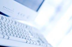 υπολογιστής γραφείου &up Στοκ Εικόνα