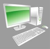 υπολογιστής γραφείου &up διανυσματική απεικόνιση