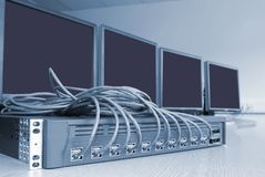 υπολογιστής επικοινωνίας Στοκ Εικόνα