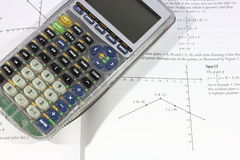 Υπολογιστής και Math Στοκ εικόνα με δικαίωμα ελεύθερης χρήσης