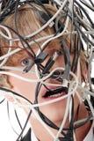 υπολογιστής καλωδίων Στοκ Φωτογραφίες