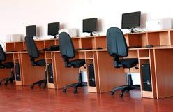 υπολογιστής κλάσης Στοκ φωτογραφία με δικαίωμα ελεύθερης χρήσης