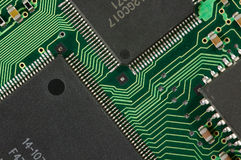 υπολογιστής κυκλωμάτων χαρτονιών Στοκ Εικόνα