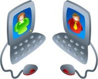 υπολογιστής συνομιλία& Στοκ φωτογραφία με δικαίωμα ελεύθερης χρήσης