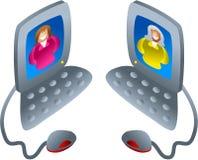 υπολογιστής συνομιλία& Στοκ Εικόνες
