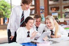 Υπολογιστής ταμπλετών γυμνασίου Στοκ φωτογραφία με δικαίωμα ελεύθερης χρήσης
