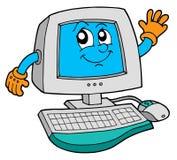 υπολογιστής χαριτωμένο&si διανυσματική απεικόνιση