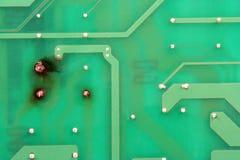 υπολογιστής χαρτονιών που τηγανίζεται Στοκ φωτογραφία με δικαίωμα ελεύθερης χρήσης