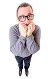 Υπολογιστής Geek: Νευρικό Nerd Στοκ φωτογραφία με δικαίωμα ελεύθερης χρήσης
