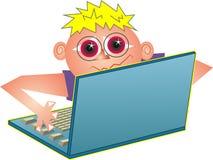 υπολογιστής geek Στοκ εικόνα με δικαίωμα ελεύθερης χρήσης