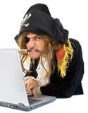 υπολογιστής pirat Στοκ φωτογραφία με δικαίωμα ελεύθερης χρήσης