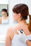 υπομονετικές επισκέψεις στηθοσκοπίων γιατρών στοκ εικόνες με δικαίωμα ελεύθερης χρήσης