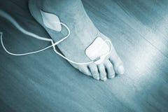 Υπομονετική θεραπεία φυσιοθεραπείας ποδιών αστραγάλων ποδιών Στοκ Φωτογραφία