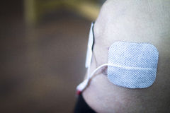 Υπομονετικό γόνατο ποδιών στη θεραπεία φυσιοθεραπείας Στοκ Φωτογραφία