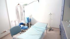 Υπομονετικό δωμάτιο εξέτασης στο νοσοκομείο απόθεμα βίντεο
