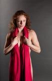 Υπονοούμενος Nude Redhead Στοκ Φωτογραφίες