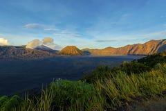 Υποστήριγμα ηφαιστείων Bromo, Μαλάνγκ Ινδονησία στοκ φωτογραφίες
