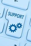 Υποστήριξης εξυπηρέτησης πελατών βοήθειας σε απευθείας σύνδεση Ιστός υπολογιστών Διαδικτύου μπλε Στοκ εικόνα με δικαίωμα ελεύθερης χρήσης