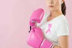 Υποστήριξη Οκτωβρίου, της συνειδητοποίησηης καρκίνου του μαστού Στοκ εικόνα με δικαίωμα ελεύθερης χρήσης