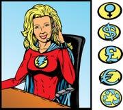 υποστήριξη superhero Στοκ Εικόνες