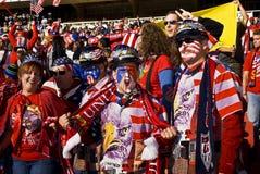 Υποστηρικτές ΑΜΕΡΙΚΑΝΙΚΟΥ ποδοσφαίρου - WC 2010 της FIFA Στοκ Εικόνα